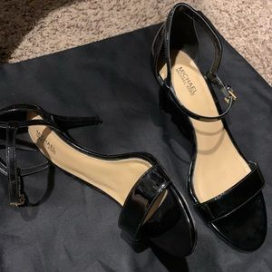 Michael kors patent leather strappy sandals